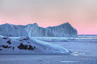 sunset over the Icefjord - Greenland Art Print by Joana Kruse