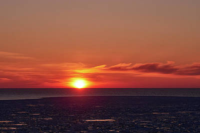 Photograph - Sunset Over The Icy Waters by Jouko Lehto