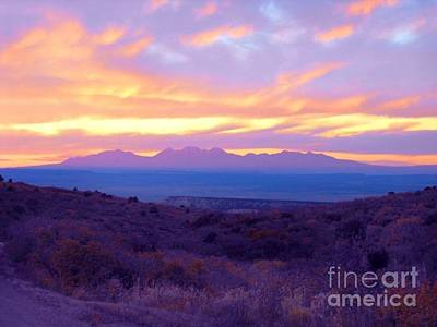 Digital Art - Sunset Over The La Sals by Annie Gibbons