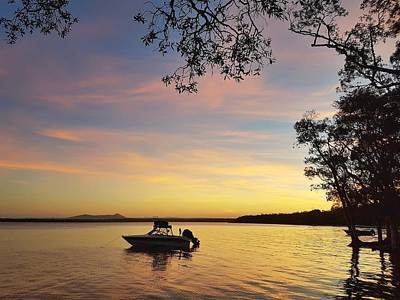 Photograph - Sunset Over The Lake At Boreen Point Near Noosa by Keiran Lusk