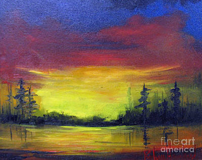 Painting - Sunset Over The Lake by Barbara Haviland