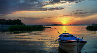 Photograph - Sunset Over The Lake by Lilia D