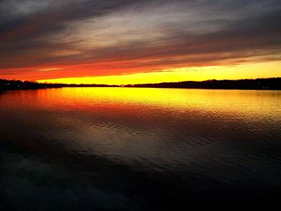 Photograph - Sunset Over The Lake by Michelle Calkins