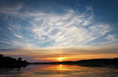 Sunset Over The Lake Art Print by Serhii Kucher