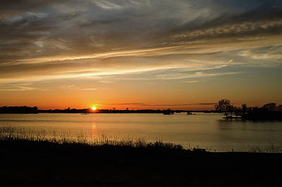 Photograph - Sunset Over The Lake by Susan McMenamin