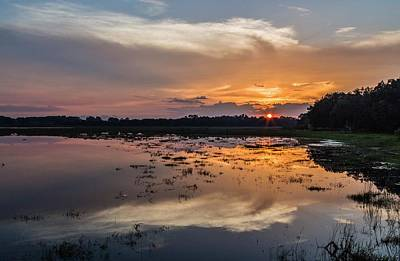 Dunnellon Photograph - Sunset Over The Lake by Wioletta Pietrzak