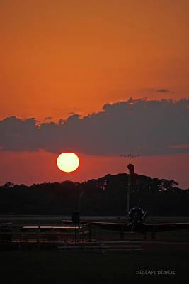 Sunset Over The Landing Art Print