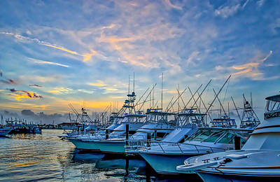 Fishing Pier Photograph - Sunset Over The Marina by Tod and Cynthia Grubbs