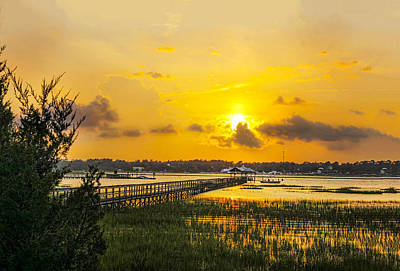Photograph - Sunset Over The Marsh 02 by Terry Shoemaker