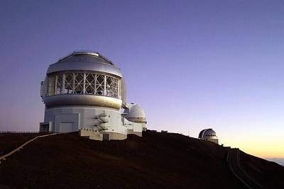 Mellow Yellow - Sunset over the Mauna Kea Observatories on Kona by Amy McDaniel