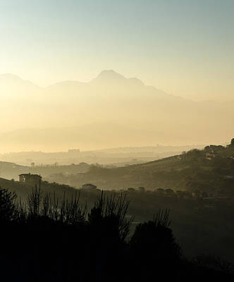Photograph - Sunset Over The Mountains Of Italy by Andrea Mazzocchetti
