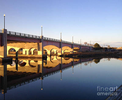 Photograph - Sunset Over The Norfolk Ocean View Bridge by Evelyn Odango