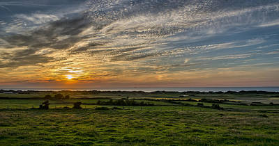 Photograph - Sunset Over The North Sea In France by Jeremy Lavender Photography