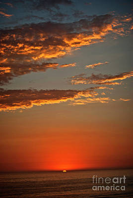 Photograph - Sunset Over The Ocean by Jim And Emily Bush