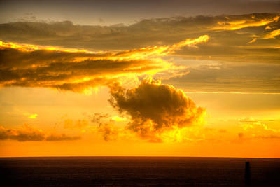Photograph - Sunset Over The Ocean by Joseph Amaral