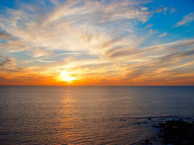 Photograph - Sunset Over The Ocean by Utah Images
