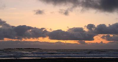 Photograph - Sunset Over The Oregon Coast - 3 by Christy Pooschke