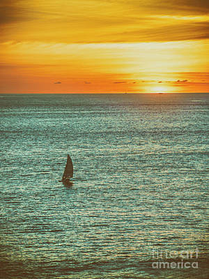 Photograph - Sunset Over The Pacific  ... by Chuck Caramella