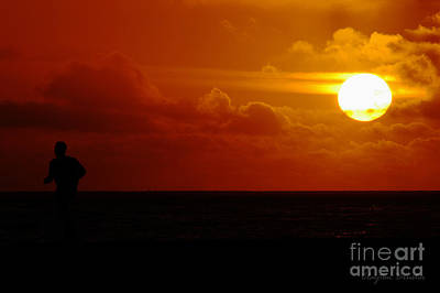 Photograph - Sunset Over The Pacific by Clayton Bruster