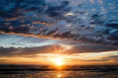 Photograph - Sunset Over The Pacific Ocean by Monte Stevens