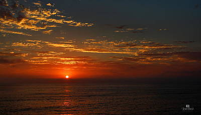 Ocean Photograph - Sunset Over The Pacific Ocean by Russ Harris