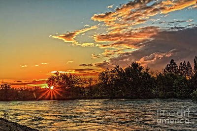 Photograph - Sunset Over The Payette  by Robert Bales