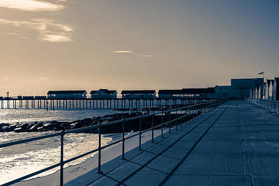 Photograph - Sunset Over The Pier by David Warrington