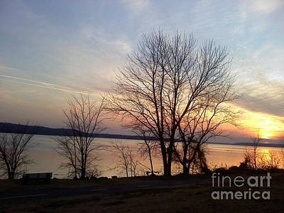 Sunset Over The Potomac Art Print