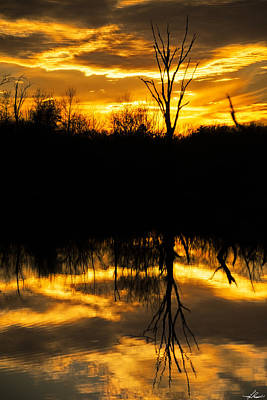 Photograph - Sunset Over The Sabine River by Phil Rispin