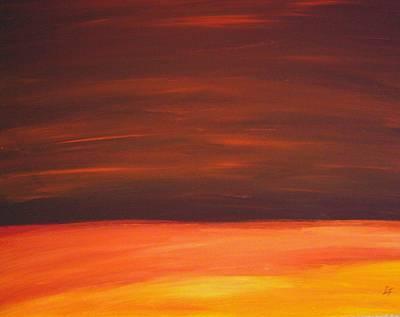 Sunset Over The Sandhills Art Print by Leonard Frederick