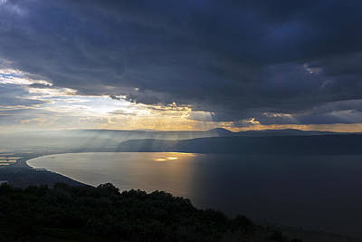 Photograph - Sunset Over The Sea Of Galilee by Dubi Roman