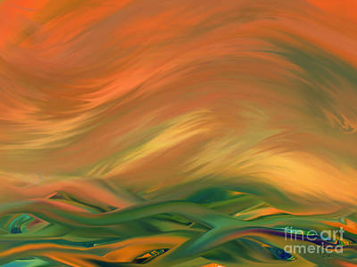 Digital Art - Sunset Over The Sea Of Worries by Giada Rossi