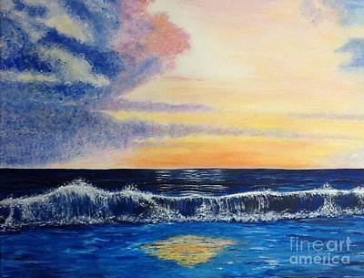 Sunset Over The Sea Art Print
