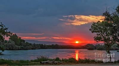 Sunset Over The Snake River Art Print
