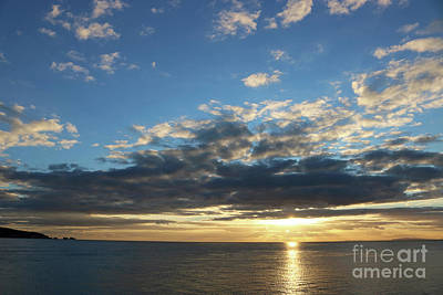 Photograph - Sunset Over The Solent Hampshire England by Julia Gavin