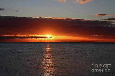 Photograph - Sunset Over The Solent Uk by Julia Gavin