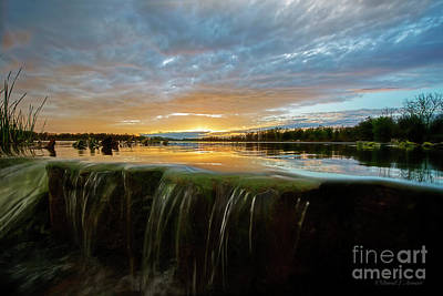 Photograph - Sunset Over The Spillway by David Arment