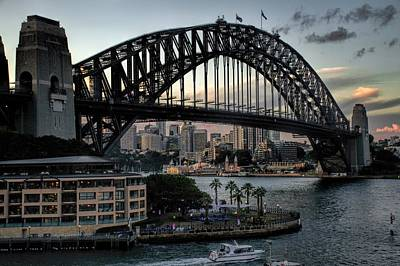 Photograph - Sunset Over The Sydney Harbor Bridge by Diana Mary Sharpton
