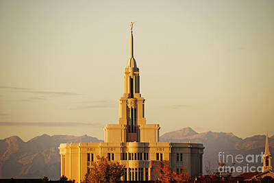 Payson Photograph - Sunset Over The Temple by Gloria Pasko