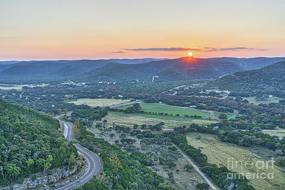 Sunsets Photograph - Sunset Over The Texas Hills by Tod and Cynthia Grubbs
