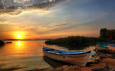 Photograph - Sunset Over The Ulubat Lake by Lilia D