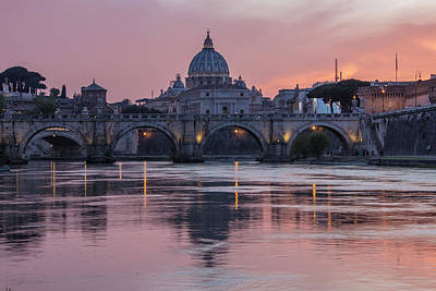 Photograph - Sunset Over The Vatican  by John McGraw