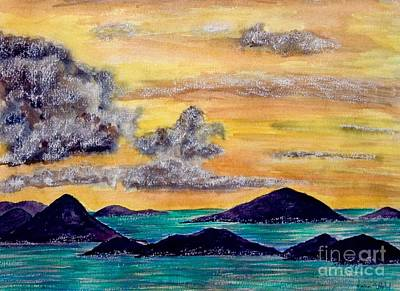 Painting - Sunset Over The Virgin Islands by Joan-Violet Stretch