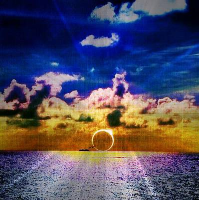 Digital Art - Sunset Over The Water by Digital Art Cafe