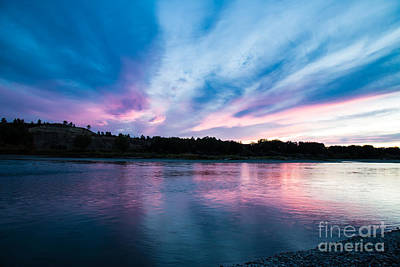 Photograph - Sunset Over The Yellowstone by Shevin Childers