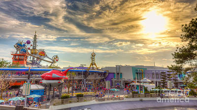 Photograph - Sunset Over Tomorrowland by Luis Garcia