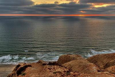 Photograph - Sunset Over Torrey Pines - 1 by Hany J