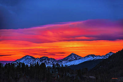 Photograph - Sunset Over Torreys And Grays Peaks by Stephen Johnson