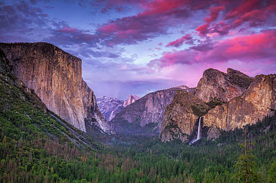 Photograph - Sunset Over Tunnel View by Andrew Soundarajan
