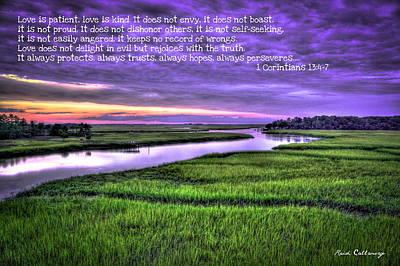 Sunset Over Turners Creek Love Art Print by Reid Callaway